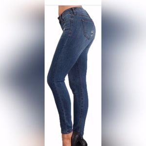 💕Just In-Distressed Mid-rise Ankle Skinny Jeans